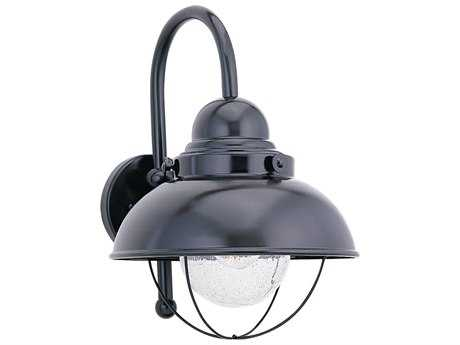 Sea Gull Lighting Sebring Black 8'' Wide Outdoor Wall Light SGL887012