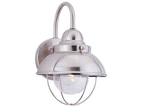 Sea Gull Lighting Sebring Brushed Stainless 8'' Wide Outdoor Wall Light SGL887098
