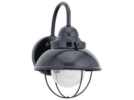 Sea Gull Lighting Sebring Black 11.25'' Wide Outdoor Wall Light SGL887112