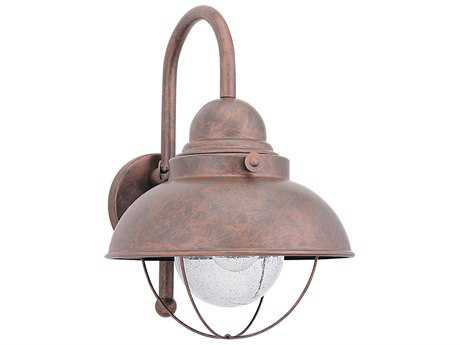 Sea Gull Lighting Sebring Weathered Copper 11.25'' Wide Outdoor Wall Light