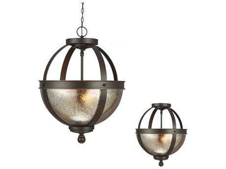 Sea Gull Lighting Sfera Autumn Bronze Two-Light 13.5'' Wide Convertible Pendant & Semi-Flush Mount Light SGL7710402715