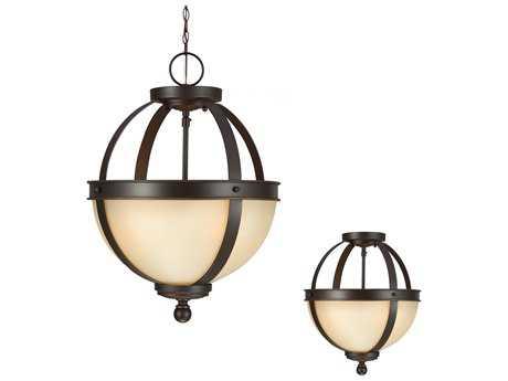 Sea Gull Lighting Sfera Autumn Bronze Two-Light 13.5'' Wide Convertible Pendant & Semi-Flush Mount Light SGL7790402715