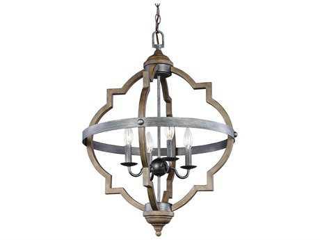 Sea Gull Lighting Socorro Stardust / Cerused Oak Four-Light 21'' Wide Chandelier SGL5124904846