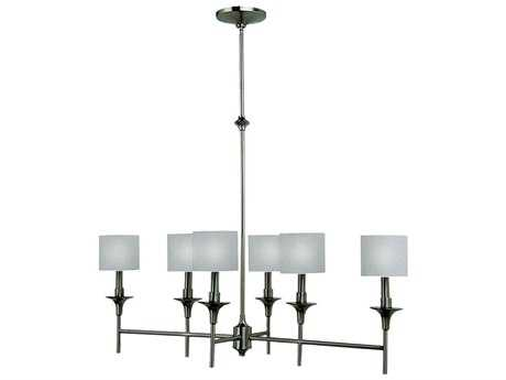 Sea Gull Lighting Stirling Brushed Nickel Six-Light 35'' Wide Island Light SGL66953962