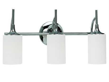Sea Gull Lighting Stirling Chrome Three-Light Vanity Light SGL4495405