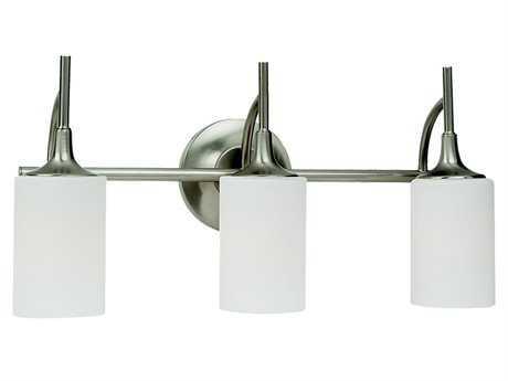 Sea Gull Lighting Stirling Brushed Nickel Three-Light Vanity Light SGL44954962