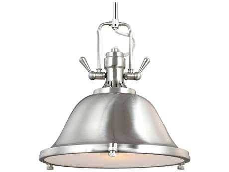 Sea Gull Lighting Stone Street Brushed Nickel 13.25'' Wide Pendant SGL6514401962
