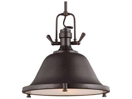 Sea Gull Lighting Stone Street Burnt Sienna Two-Light 17.25'' Wide Pendant SGL6514402710