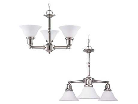 Sea Gull Lighting Sussex Brushed Nickel Three-Light 22'' Wide Mini-Chandelier SGL31060962
