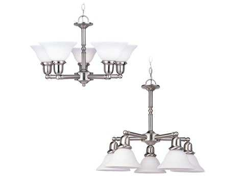 Sea Gull Lighting Sussex Brushed Nickel Five-Light 24'' Wide Mini-Chandelier SGL31061962