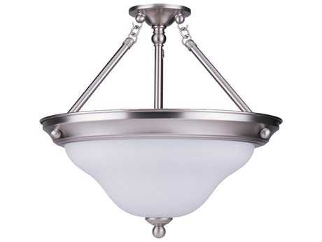 Sea Gull Lighting Sussex Brushed Nickel Three-Light 15.25'' Wide Convertible Semi-Flush Mount Light SGL66062962