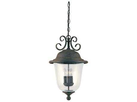 Sea Gull Lighting Trafalgar Oxidized Bronze Three-Light Outdoor Hanging Light