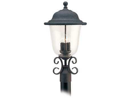Sea Gull Lighting Trafalgar Oxidized Bronze Three-Light Outdoor Post SGL825946