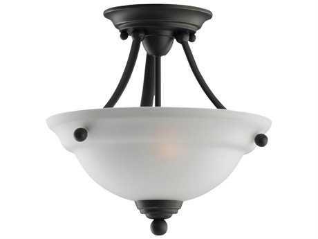 Sea Gull Lighting Wheaton Heirloom Bronze Two-Light 12.5'' Wide Convertible Semi-Flush Mount Light SGL77625782