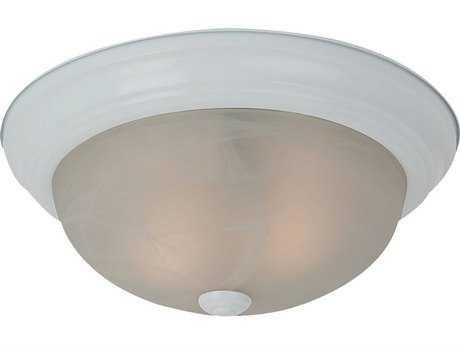 Sea Gull Lighting Windgate White Two-Light 13'' Wide Flush Mount Light SGL7594215