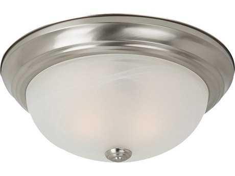 Sea Gull Lighting Windgate Brushed Nickel Three-Light 15'' Wide Flush Mount Light SGL75943962