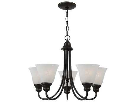 Sea Gull Lighting Windgate Heirloom Bronze Five-Light 20.25'' Wide Mini-Chandelier