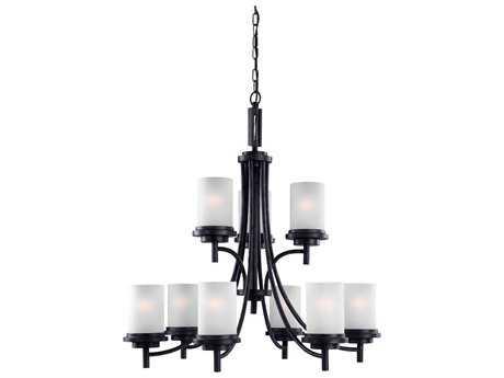 Sea Gull Lighting Winnetka Blacksmith Nine-Light 32'' Wide Chandelier