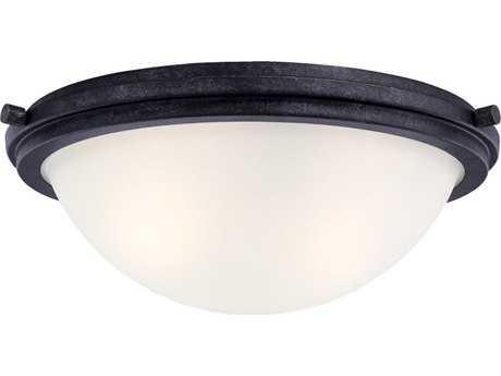 Sea Gull Lighting Winnetka Blacksmith Two-Light 14'' Wide Flush Mount Light SGL75661839