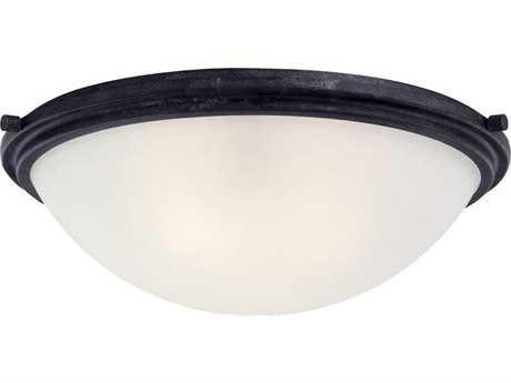 Sea Gull Lighting Winnetka Blacksmith Three-Light 17.75'' Wide Flush Mount Light SGL75662839