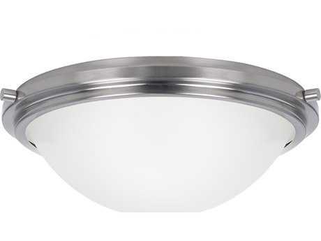 Sea Gull Lighting Winnetka Brushed Nickel Three-Light 17.75'' Wide Flush Mount Light SGL75662962