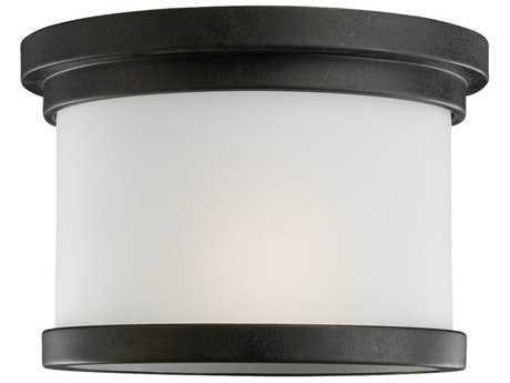 Sea Gull Lighting Winnetka Forged Iron Outdoor Ceiling Light SGL78660185