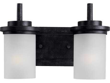 Sea Gull Lighting Winnetka Blacksmith Two-Light Wall Sconce SGL44661839