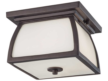 Sea Gull Lighting Wright House Oil Rubbed Bronze Glass Outdoor Ceiling Light