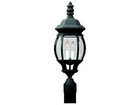 Sea Gull Lighting Wynfield Black Two-Light Outdoor Post SGL8220012