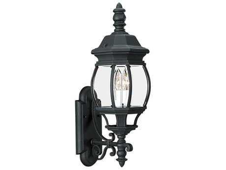Sea Gull Lighting Wynfield Black Two-Light Outdoor Wall Light SGL8820112