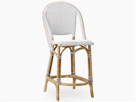 Sika Design Affaire Alu-rattan White / Cappucino Dots Wicker Bar Stool