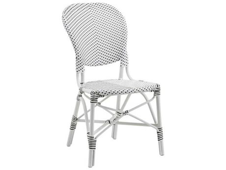 Sika Design Affaire Alu-rattan White / Cappucino Dots Aluminum Wicker Dining Chair