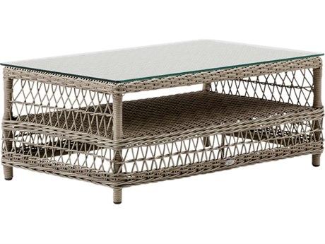 Sika Design Georgia Garden 39'' Wide Aluminum Rectangular Coffee Table