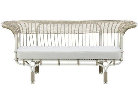 Sika Design Exterior Aluminum Dove White Cushion Belladonna Sofa