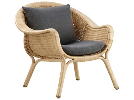 Sika Design Icon Natural Wicker Cushion Lounge Chair