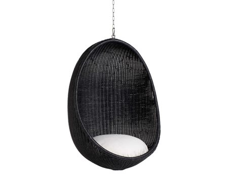 Sika Design Icon Black Wicker Cushion Swing