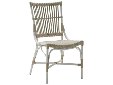 Sika Design Exterio Dove White Aluminum Wicker Dining Chair