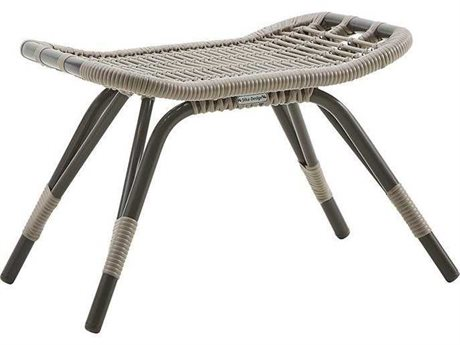 Sika Design Exterio Aluminum Wicker Ottoman