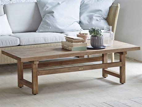 Sika Indoor Teak 55'' Wide Rectangular Coffee Table SKA9462D