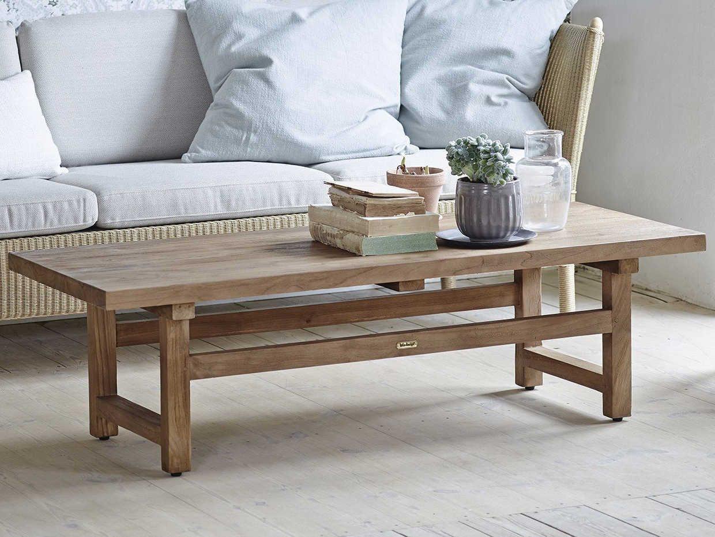 Sika Indoor Teak 55'' Wide Rectangular Coffee Table | SKA9462D