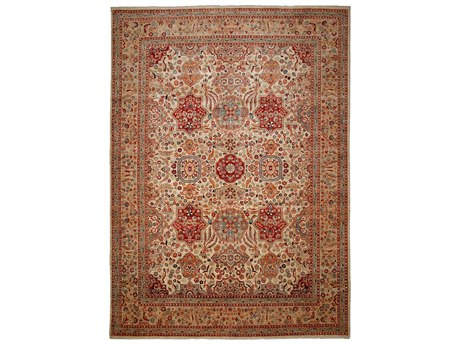 Solo Rugs Ahar Red 9'10'' x 13'2'' Rectangular Area Rug