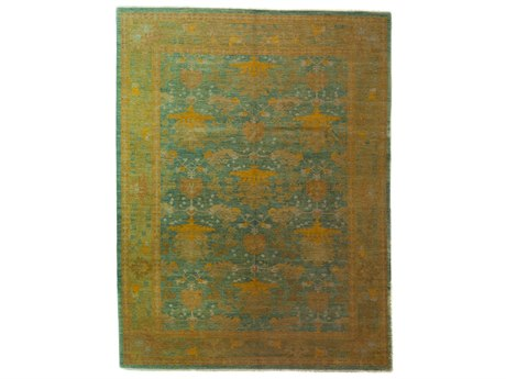 Solo Rugs Arts & Crafts Yellow 10'4'' x 13'5'' Rectangular Area Rug SOLM1590303
