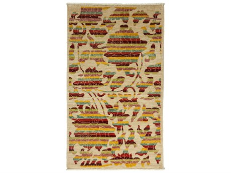 Solo Rugs Arts & Crafts Ivory 3' x 5'1'' Rectangular Area Rug SOLM1783308