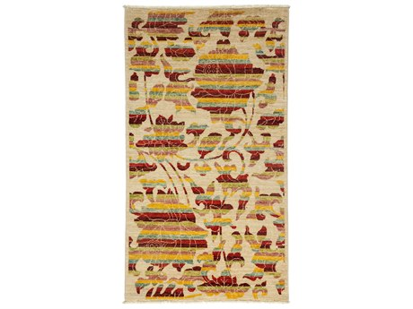 Solo Rugs Arts & Crafts Ivory 3'2'' x 5'6'' Rectangular Area Rug SOLM1783311