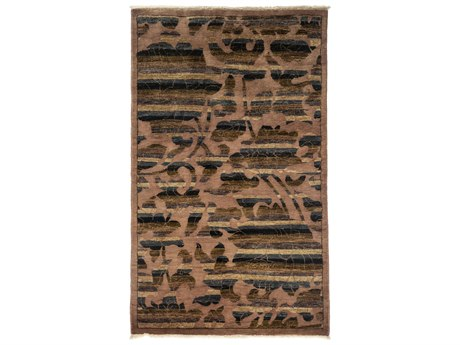 Solo Rugs Arts & Crafts Brown 3'1'' x 5'2'' Rectangular Area Rug SOLM1783316