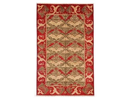 Solo Rugs Arts & Crafts Red 4'10'' x 7'10'' Rectangular Area Rug SOLM167041