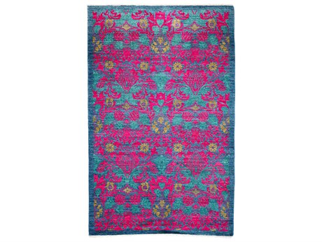 Solo Rugs Arts & Crafts Pink 4'9'' x 7'9'' Rectangular Area Rug SOLM1760189