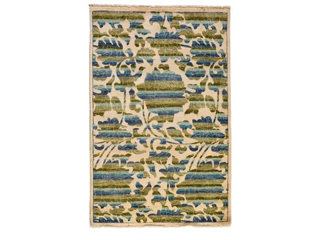 Solo Rugs Arts & Crafts Ivory 4'1'' x 6'3'' Rectangular Area Rug SOLM1770348