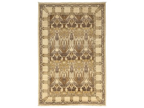 Solo Rugs Arts & Crafts Beige 4'10'' x 7'7'' Rectangular Area Rug SOLM1783276