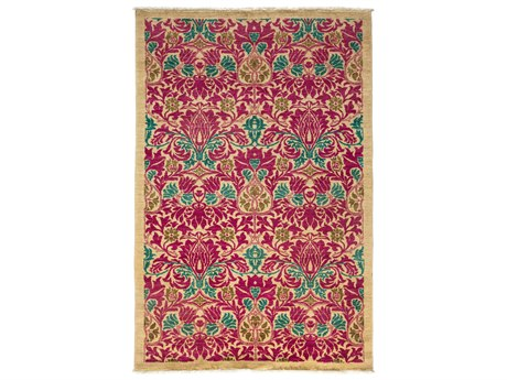 Solo Rugs Arts & Crafts Pink 4'10'' x 7'4'' Rectangular Area Rug SOLM1783294